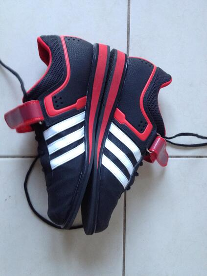 Adidas weightlifting shoes side view