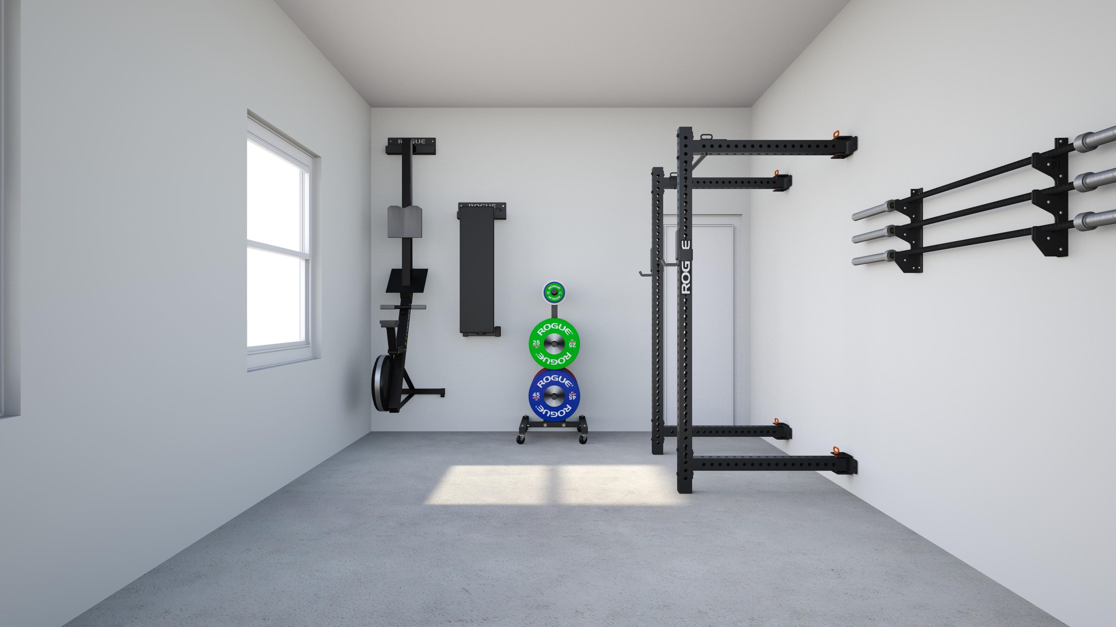 1 car garage gym