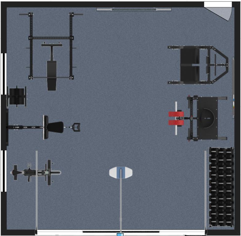 2 Garage gym floor plan