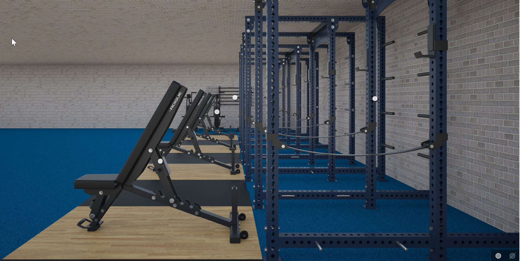 Basement gym idea for 4 people