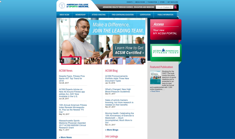 ACSM website