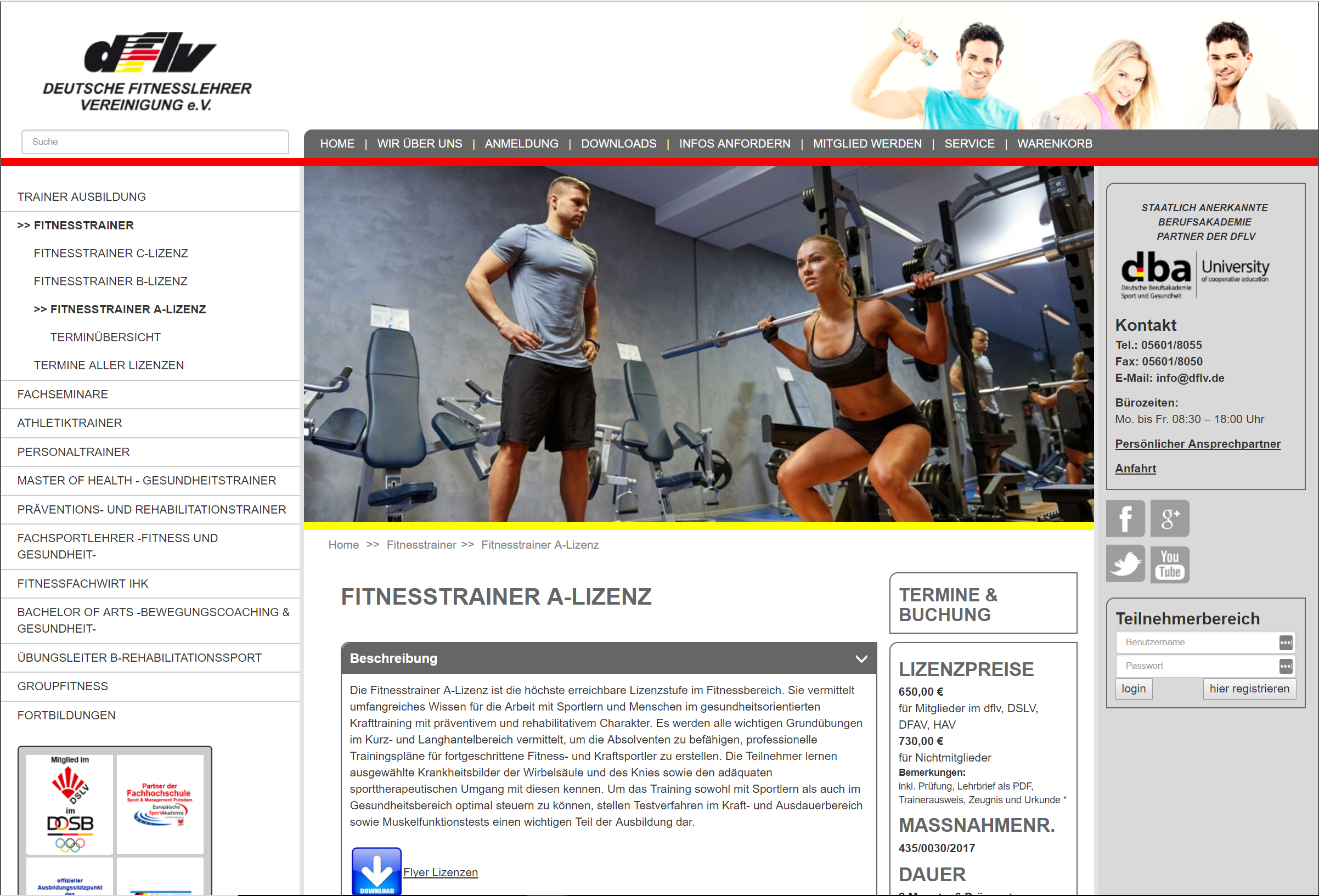 Fitness trainer certification Germany