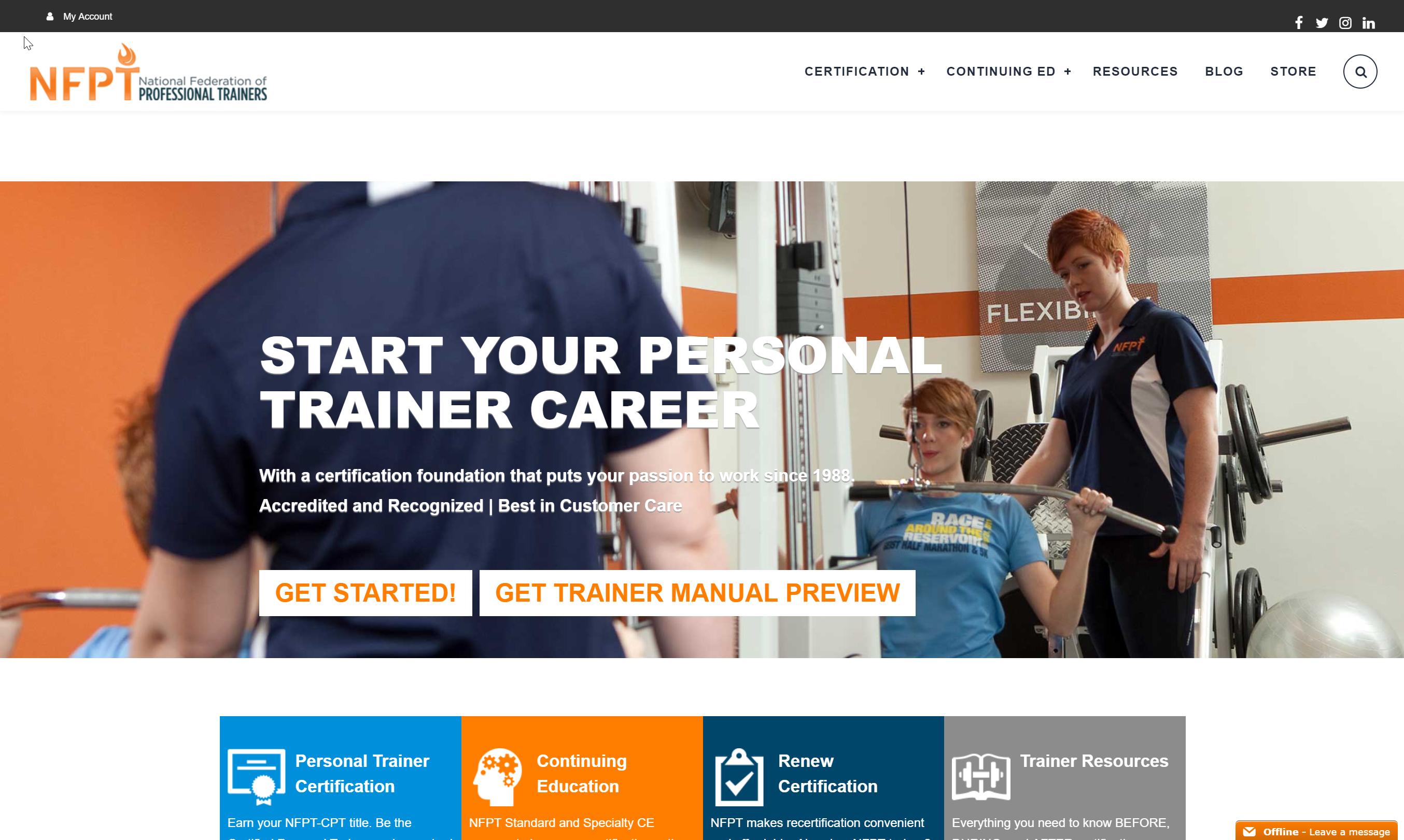 NFPT website