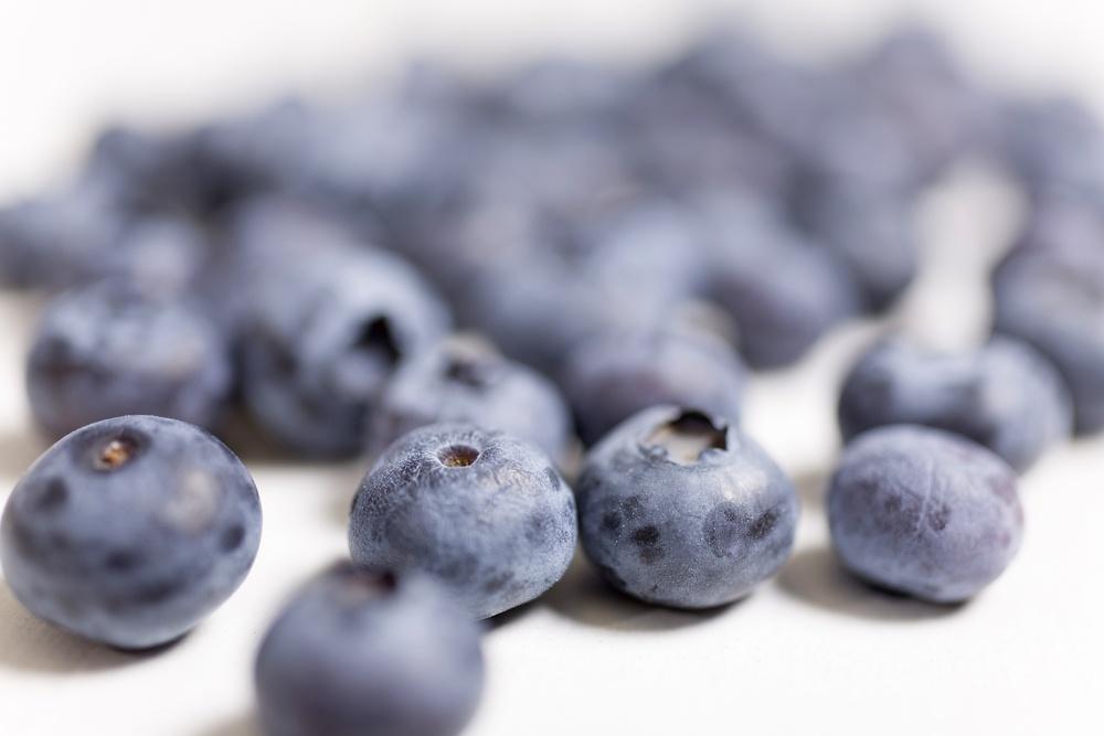 Fresh blueberries for fitness
