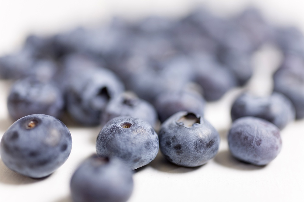 Fresh blueberries for fitness
