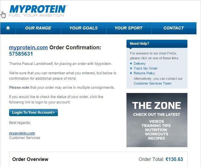 MYPROTEIN Order Lean muscle Bundle