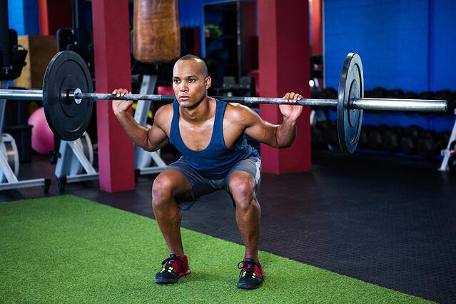 Barbell squat example