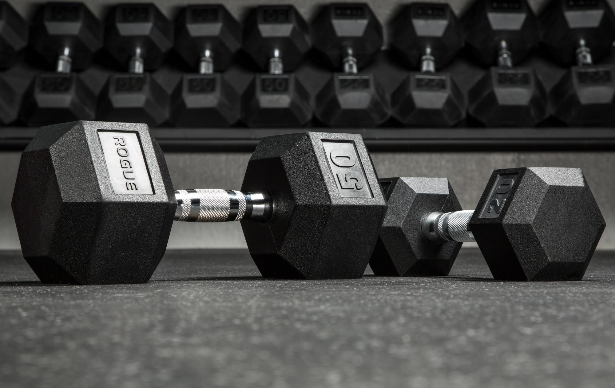 rogue hex dumbbell