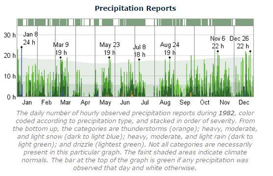 Dublin Marathon Precipitation 1982