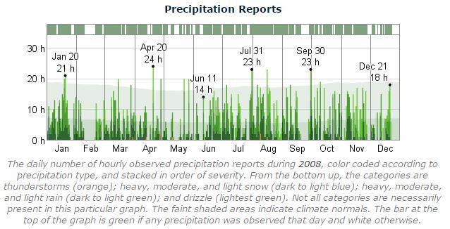 Dublin Marathon Precipitation 2008