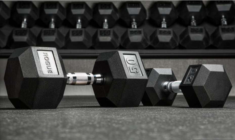 Rogue Rubber Hex dumbbell